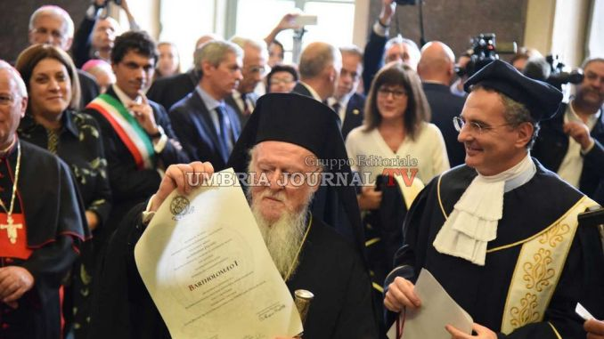 Laurea honoris causa a Bartolomeo I Patriarca ecumenico di Costantinopoli