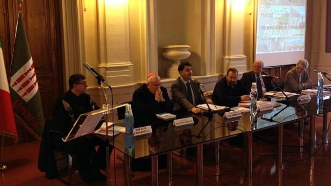 Il cardinale Bassetti e l'assessore Barberini alla presentazione del Corso di Perfezionamento in Progettazione, Gestione e Coordinamento dell'Oratorio