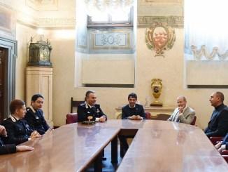 La visita del colonnello Cosimo Fiore al sindaco e al Consiglio comunale