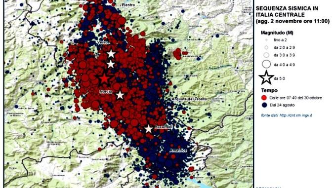 Terremoto Centro Italia, dal 24 agosto oltre 21.600 scosse