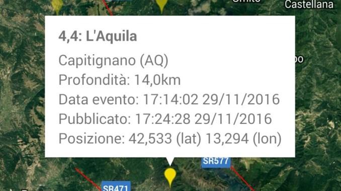 Trema la terra, forte scossa di magnitudo 4.4 avvertita anche in Umbria
