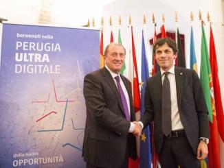 Perugia, open fiber, cablato in fibra ottica ultraveloce il 50per cento della città