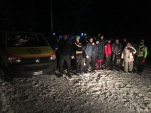 Autobus fuori strada a Sigillo, recuperato dai Vigili del fuoco, due feriti