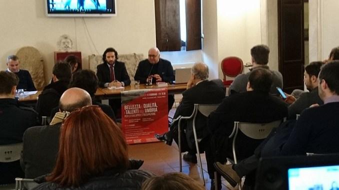 """La tappa di """"Bellezza e qualità, i talenti dell'Umbria per lo sviluppo e l'occupazione"""" organizzata dal Pd Umbria sabato scorso a Narni"""