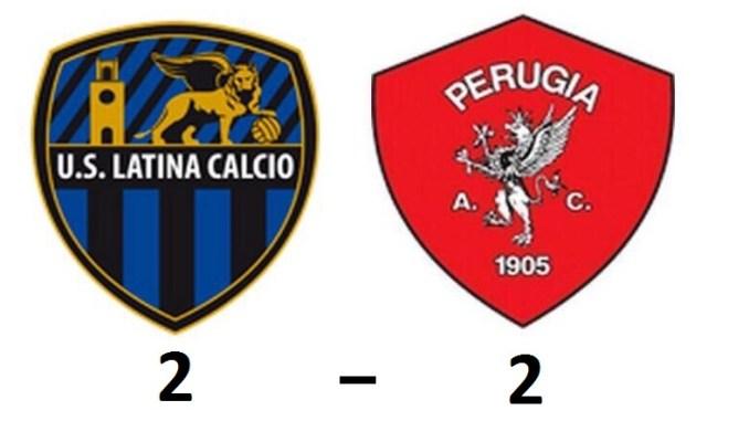 Due rigori dell'ex De Giorgio bloccano il Perugia sul 2-2 a Latina