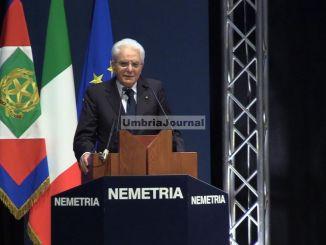 Nemetria, Sergio Mattarella a Foligno, collegamento tra etica, economia e comunità locali, una grande intuizione [FOTO]