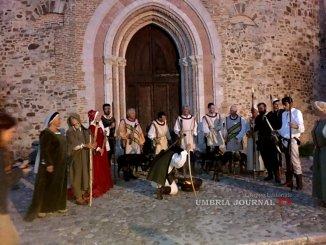 Perugia 1416, scene di caccia medievale del Rione Sant'Angelo