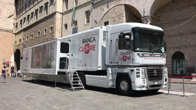 A Perugia fa tappa la banca del cuore, la tre giorni di screening gratuiti