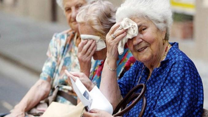 Allarme caldo, anziani i più a rischio, afa e temperature a 38 gradi, che fare?