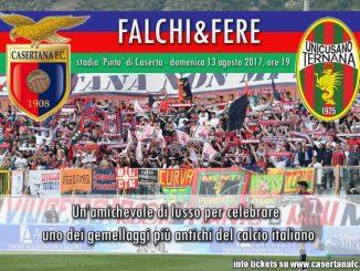 Ternana, domenica amichevole a Caserta, gemellaggio storico delle tifoserie