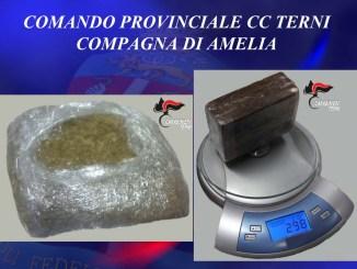 Amelia, Carabinieri arrestano un corriere della droga