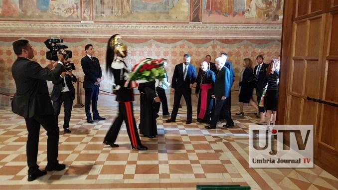 Sergio Mattarella ad Assisi, ha incontrato familiari vittime terremoto del 97