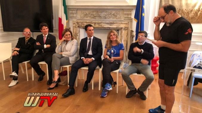 Maratona di New York Leonardo Cenci portabandiera dell'Italia