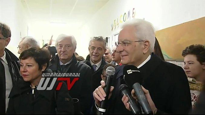 Presidente Sergio Mattarella agli alunni di Cascia, voi siete avanguardia ricostruzione