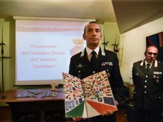 Presentato oggi a Perugia il calendario Storico dell'Arma 2018