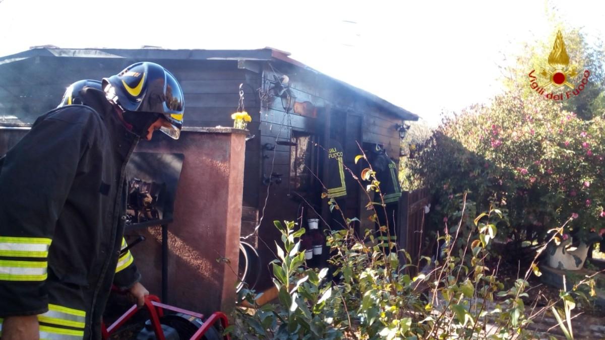 Incendio bombola con scoppio a Foligno durante il pranzo