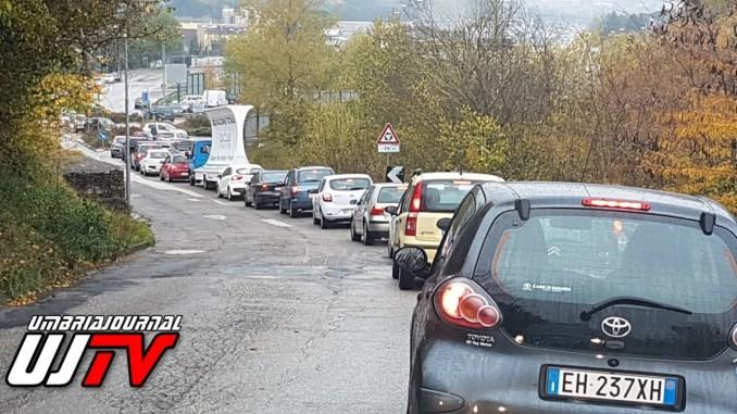 Maltempo, incidenti stradali, traffico congestionato, Umbria spaccata in due