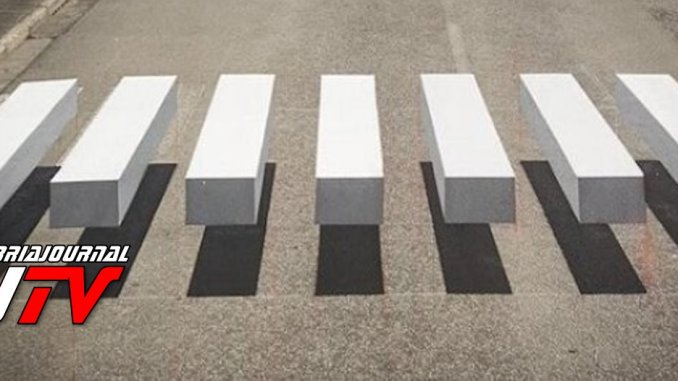 Strisce pedonali in 3D, Carmine Camicia, servono per far rallentare auto