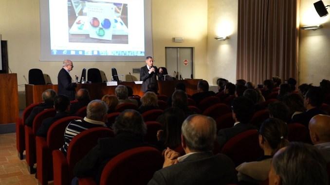 La platea all'incontro con Antonio Ereditato sulle particelle elementari