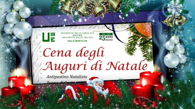 Cena auguri di Natale ed assemblea per Unitre di Orvieto