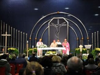 La Santa Messa celebrata alle Acciaierie di Terni