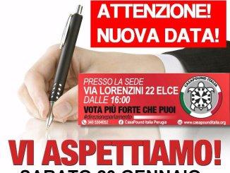 CasaPound chiede l'ultimo sforzo, la firma per la candidatura alle elezioni