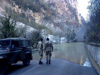 Fiume Nera sarà spostato nell'alveo definitivo per ricostruzione 209 Valnerina