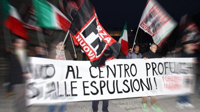 """Nuovo centro profughi a Perugia, Forza Nuova: """"Ora basta"""""""
