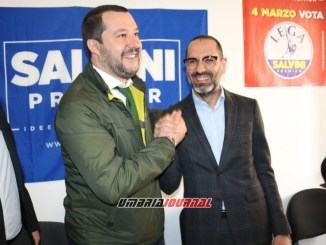 Matteo Salvini a Terni presenta il candidato sindaco leghista Leonardo Latini