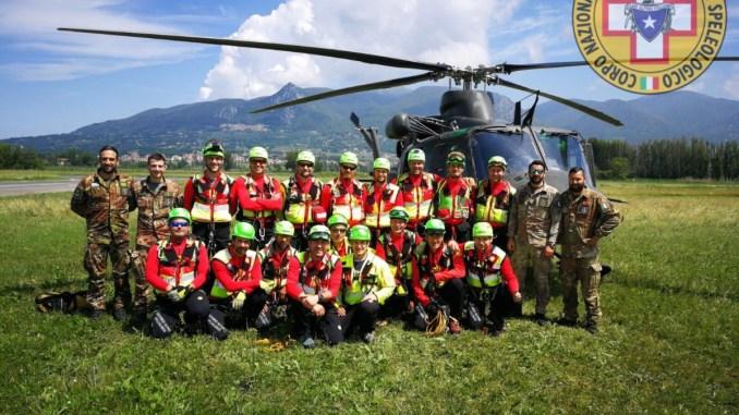 Soccorso alpino e speleologico Umbria ed Esercito, formazione congiunta