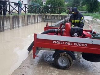 Maltempo a Perugia, causa piogge zona Mantignana allagata
