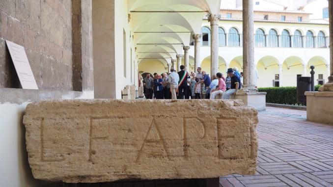 Inaugurato a Perugia il nuovo lapidario, uno strumento in più per avvicinarsi al passato
