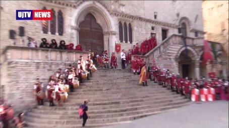 Perugia 1416, Braccio Fortebracci e la salita al Palazzo dei Priori