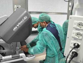 Tumore renale retroperitoneale asportato in robotica per via posteriore, innovativo a Terni