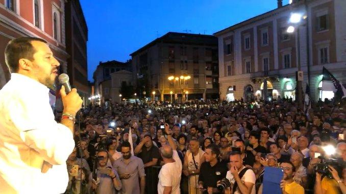 Elezioni amministrative, bagno di folla per Salvini a Terni e a Spoleto