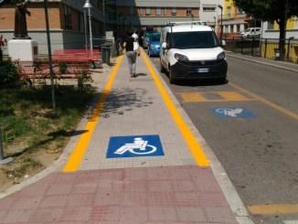 Ospedale Terni, nuovi posti moto e corsia di accesso protetta per persone disabili
