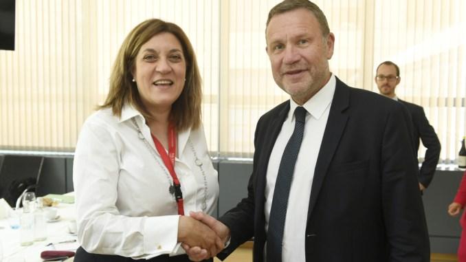 Presidente Marini fondi strutturali relatrice a Bruxelles comitato delle regioni