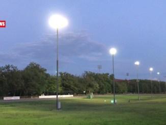 Pian di Massiano ha una Nuova illuminazione, 300 punti luce foto e video