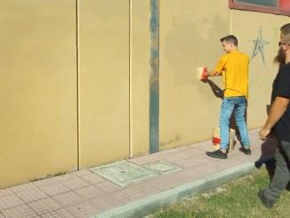 Blocco Studentesco CasaPound Terni pulizia al Palazzetto di via Di Vittorio