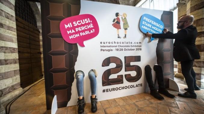 Eurochocolate ha celebrato il suo primo quarto di secolo, successo il 25esimo compleanno