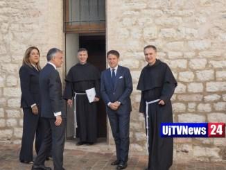 Assisi, premier Conte, da San Francesco messaggio rivoluzionario
