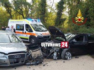 Incidente stradale con feriti tra Signoria e Colle di Bettona, due le auto coinvolte