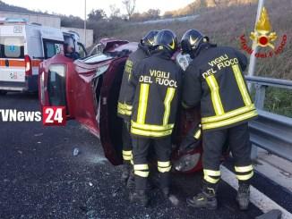 Incidente stradale tra Valfabbrica e Petrignano di Assisi, una persona ferita