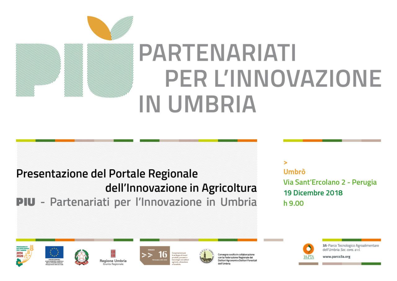 Presentazione del Portale Regionale dell'Innovazione in Agricoltura