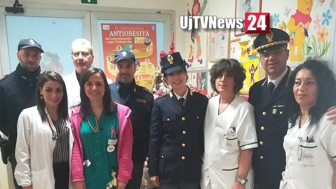 La Polizia di Stato in visita ai bambini ricoverati in ospedale a Terni