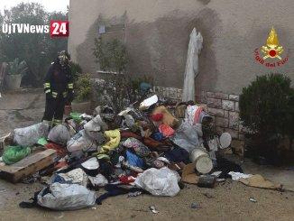 Incendio mansarda a Montefalco, una persona lievemente intossicata