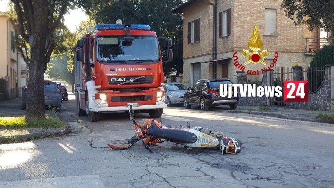 Motociclista in ospedale incidente stradale a Umbertide