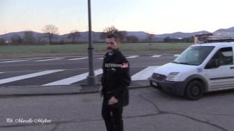 Assalto bancomat BNL Polizia e vigilanza auto polizia (3)