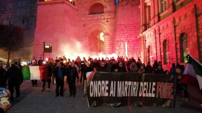 Perugia, Foibe, CasaPound oltre 100 fiaccole in corteo