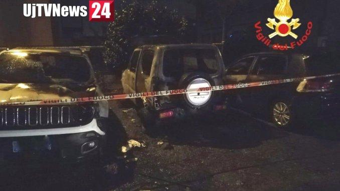 A fuoco tre auto anche a Città di Castello, incendio nella notte